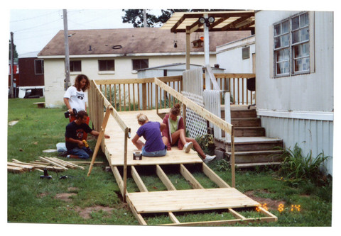 Ramp being built
